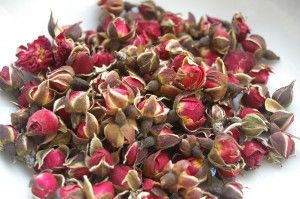 sun dried wild rose buds